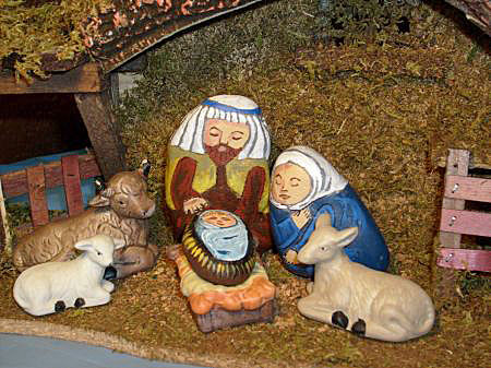 Home Unique Nativity Sets Nativity Scene Figures Painted On Rocks And Stones
